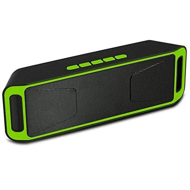 Music Wireless Bluetooth HiFi Boom Bass Speaker A2DP Stereo with 6 Hour (Green) - HomeEkart