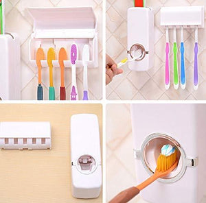 Toothpaste Dispenser and Tooth Brush Holder for Home Bathroom Accessories