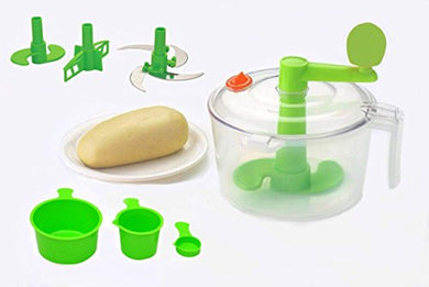 Atta Dough Maker With Beater, Chop & Churn 3In1, Green - HomeEkart