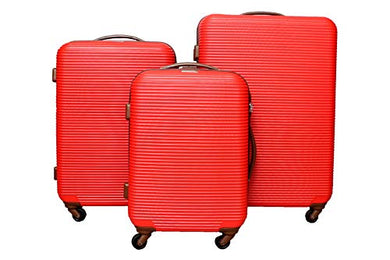 Polycarbonate 56 Ltrs Black Hardsided Carry On Red Trolley Bags Perfect for Traveling Bag