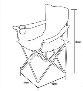 Camping Folding Chair Outdoor Garden Director Picnic (Red) - HomeEkart