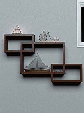Wall Decor Shelf Rack/Floating Shelves/Book Shelf/Intersecting Display Storage Shelf for Wall Mount with 3 Shelves