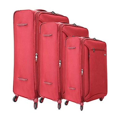 Red Cabin Cum Check in Luggage Trolley Bag (20, 24, 28 Inches) -Set of 3