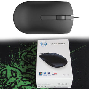 Pack of 10 - Optical Mouse MS116 wired mouse - HomeEkart