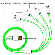 Pack of 10 Portable USB 4 in 1 Multi Charger Cable for HTC Samsung Sony Xiao mi Hua wei iPhone 4 4s 5 5s 6 COLOR MAY VARY - HomeEkart