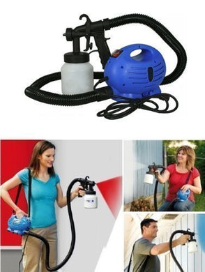 Pack of 10 Plastic Electric Portable Spray Painting Machine Set (Blue, 7-Pieces)