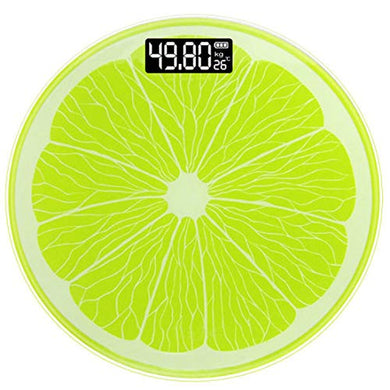Digital Personal Scales LCD Weigh Bathroom Digital Fat Scales Fitness Lemon Design - HomeEkart