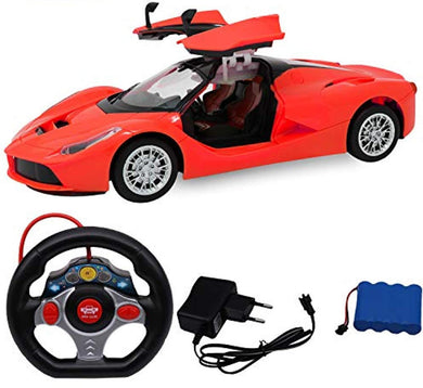 Pack of 5 -  1:14 Scale Steering Remote Control Famous Car with Opening Door