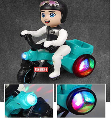 Pack of 5 - Electronic Tricycle Bicycle Boy, Musical Toy with Flashing Lights, Moving Bicycle 360 Degrees Automatic Rotate, Best Toys Gift (Bicycle with 3D Lights)