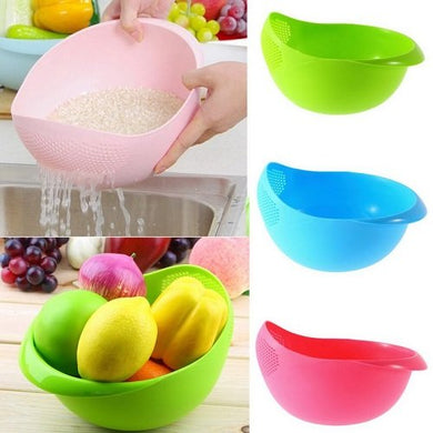Pack Of 10 Rice Vegetable Fruit Washing Bowl 1 Pc (Multicolor) - HomeEkart