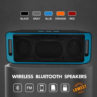 Portable Wireless Speaker Bluetooth 4.0 Stereo Subwoofer TF USB FM Radio Loud Speaker Bass Sound Speakers (Bar Speak)