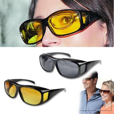 Men Night Vision Driving Anti Glare Eyeglasses HD Vision Wrap Arounds Glasses