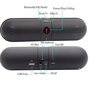 Pack of 5 Pill Shape Wireless Bluetooth Outdoor Speaker Portable Speaker Support FM TF U-disk - HomeEkart