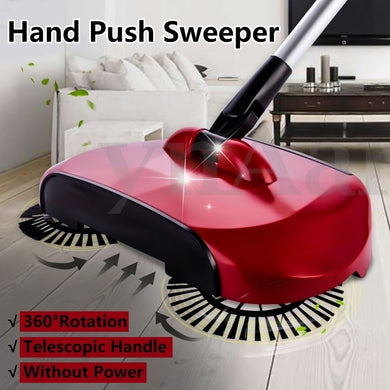 Easy Power Free Sweeper 360°Rotary Home Use Magic Manual Telescopic Floor Dust Sweeper