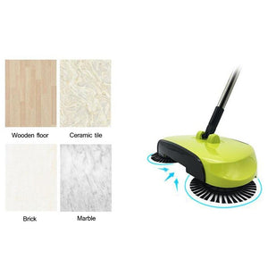 Easy Power Free Sweeper 360°Rotary Home Use Magic Manual Telescopic Floor Dust Sweeper - HomeEkart