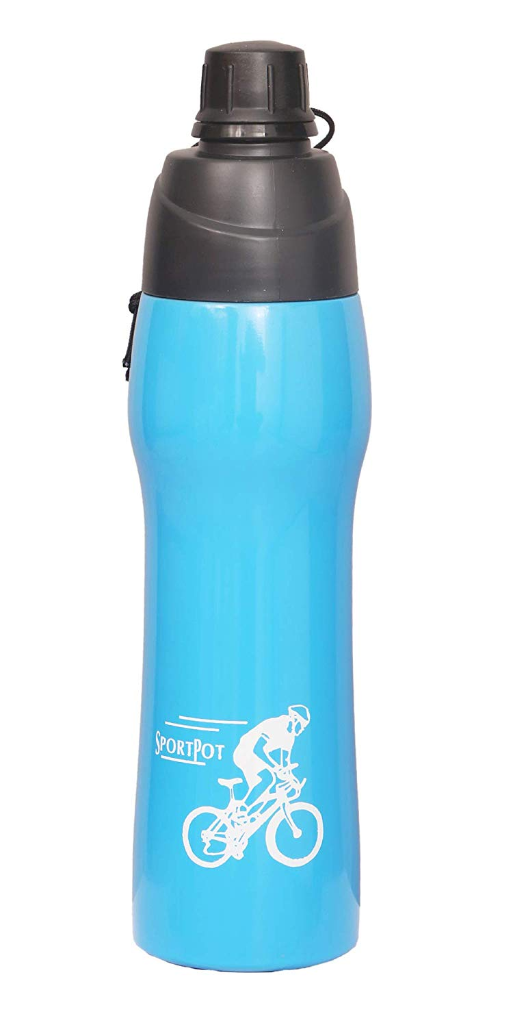 500ml Water Bottle Vacuum Insulated Flask Thermal Sport Chilly Cold Cups Blue - HomeEkart