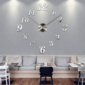 DIY Wall Clock Home Decor Sticker Modern Large Art Office Room Luxury Living Bedroom - HomeEkart