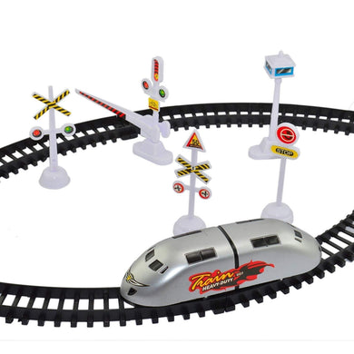 Pack of 5 - High Speed Bullet Train Toy Train with Track Set & Signal Accessories Battery Operated Train Set for Kids | Bullet Train Toys for Kids