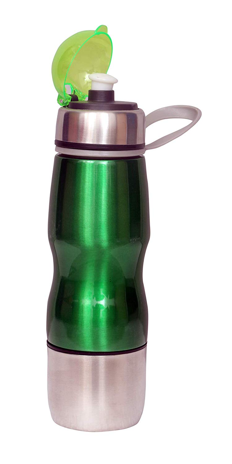 500ml Water Bottle Vacuum Insulated Flask Thermal Sport Chilly Cold Cups Green - HomeEkart