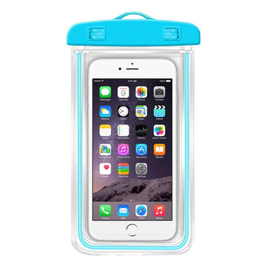 PACK OF 10 Waterproof Sealed Transparent Bag with Underwater Pouch Phone Case (Multicolor)