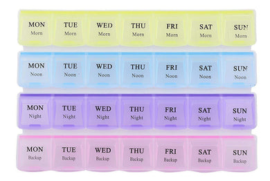 28 Days 4 Weeks Pill Medicine Box Organizer(Multicolor) - HomeEkart