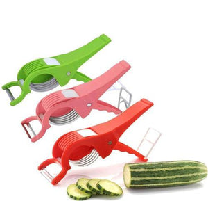 Red And Pink Veg Cutter