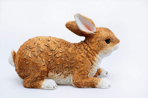 Decorative Poylresin Rabbit Garden Statue, Funny Garden Statues - polyresin Statue for Garden - HomeEkart