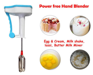 Plastic Powerless Hand Blender for Kitchen (Medium, Multicolour)