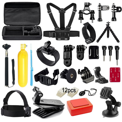 40 in 1 Mounts and Straps Accessory Kit for GoPro Hero 7/6/5/4/3/2/1/SJCAM/Akaso/Apeman/Xiaomi Yi Action Camera - HomeEkart