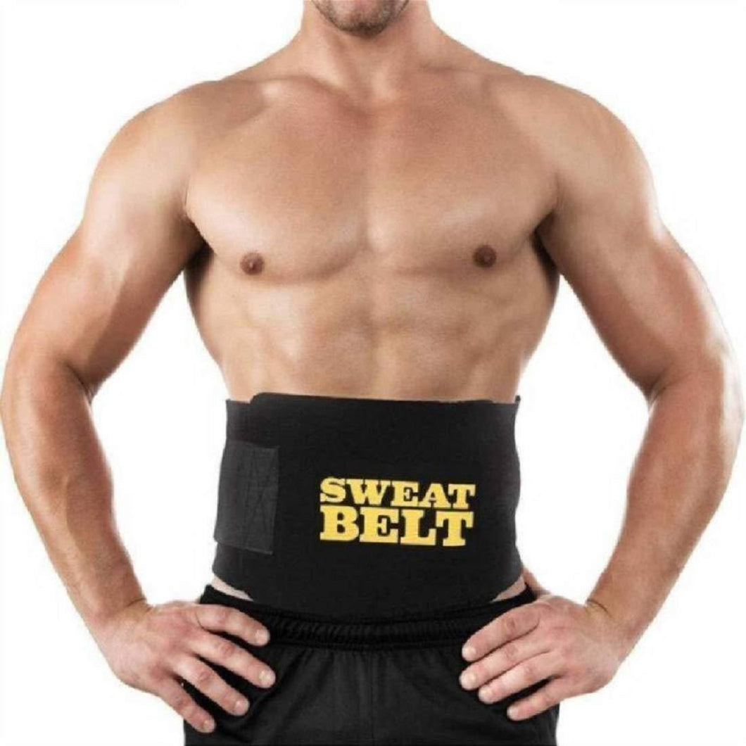 Men's and Women's Neoprene Sport Workout Waist Sweat Belt Body Shaper (Color may vary) - HomeEkart