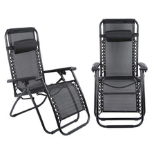 Folding Zero Gravity Lounge Chair Reclining Chair with Adjustable Head Rest for Garden - HomeEkart