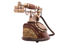 Telephone Landline Corded Phone Vintage Antique Style Old Fashioned Retro Home Office Decoration - HomeEkart