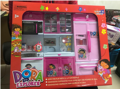 PAck of 5 - Dora kitchen set for kids- Medium Size (Colors may vary)