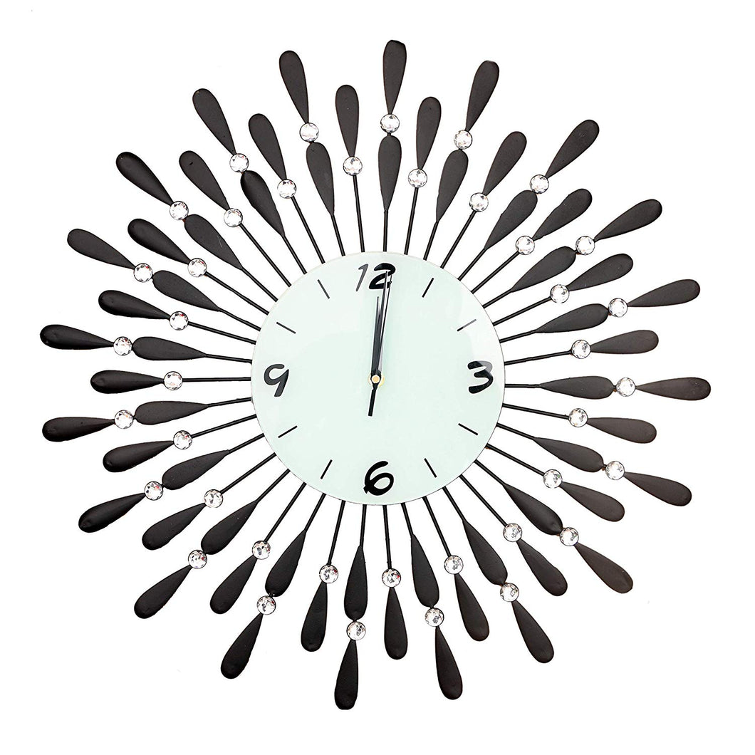 Wall Clock Metal Large Numeral Vintage Garden Home Outdoor Face 60cm Round Open Home Decor Traditional Luxury - HomeEkart