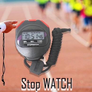 Professional Stop Watch, Scientific Instruments Plastic Racer Digital Stop Watch, Digital Stopwatch and Alarm Timer for Sports/Study/Exam