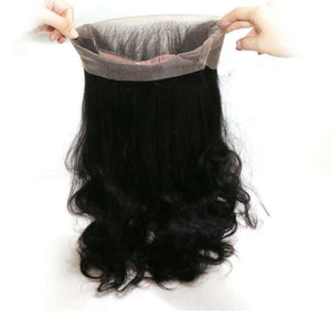 Two bundles Body wave hair and a 360 lace closure frontal - mslhair