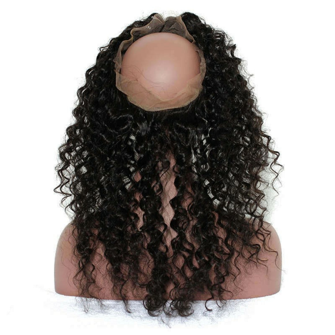 360 Lace Deep wave Frontal closure, pre-plucked, with baby hairs. Brazilian, Indian, Malaysian, Peruvian - mslhair