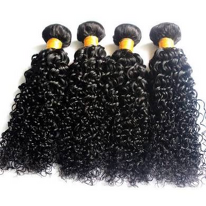 Indian Silky jerry Curly hair in color 1b, grade 10a - mslhair
