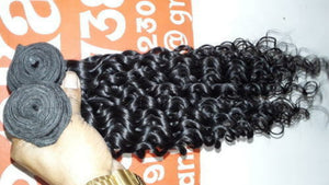 Indian Silky Deep wave hair in color 1b, grade 10a - mslhair