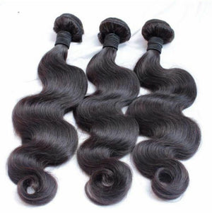 Malaysian Silky Body wave virgin hair in color 1b, double drawn hair. - mslhair