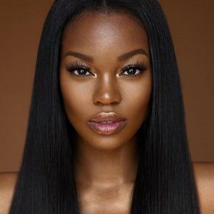 Malaysian Silky straight virgin hair in color 1b, double drawn hair. - mslhair