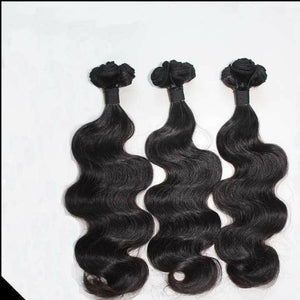 Peruvian Body wave virgin hair in color 1b, double drawn hair. - mslhair