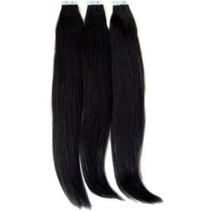 Peruvian Silky straight virgin hair in color 1b, double drawn hair. - mslhair