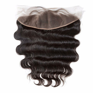 13 By 4 Ear To Ear Frontal Body wave Closure, pre-plucked, with baby hairs. Brazilian, European, Indian, Malaysian, Peruvian - mslhair