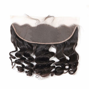 13 By 4 Ear To Ear Frontal Loose wave Closure, pre-plucked, with baby hairs. Brazilian, European, Indian, Malaysian, Peruvian - mslhair