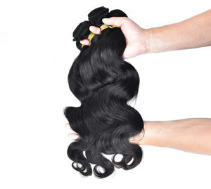 European Silky Body wave hair in color 1b, grade 10a - mslhair