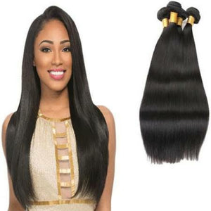 European Silky Straight hair in color 1b, grade 10a - mslhair