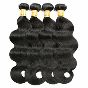 Four (4) Bundles of Silky Body wave grade 9a - mslhair