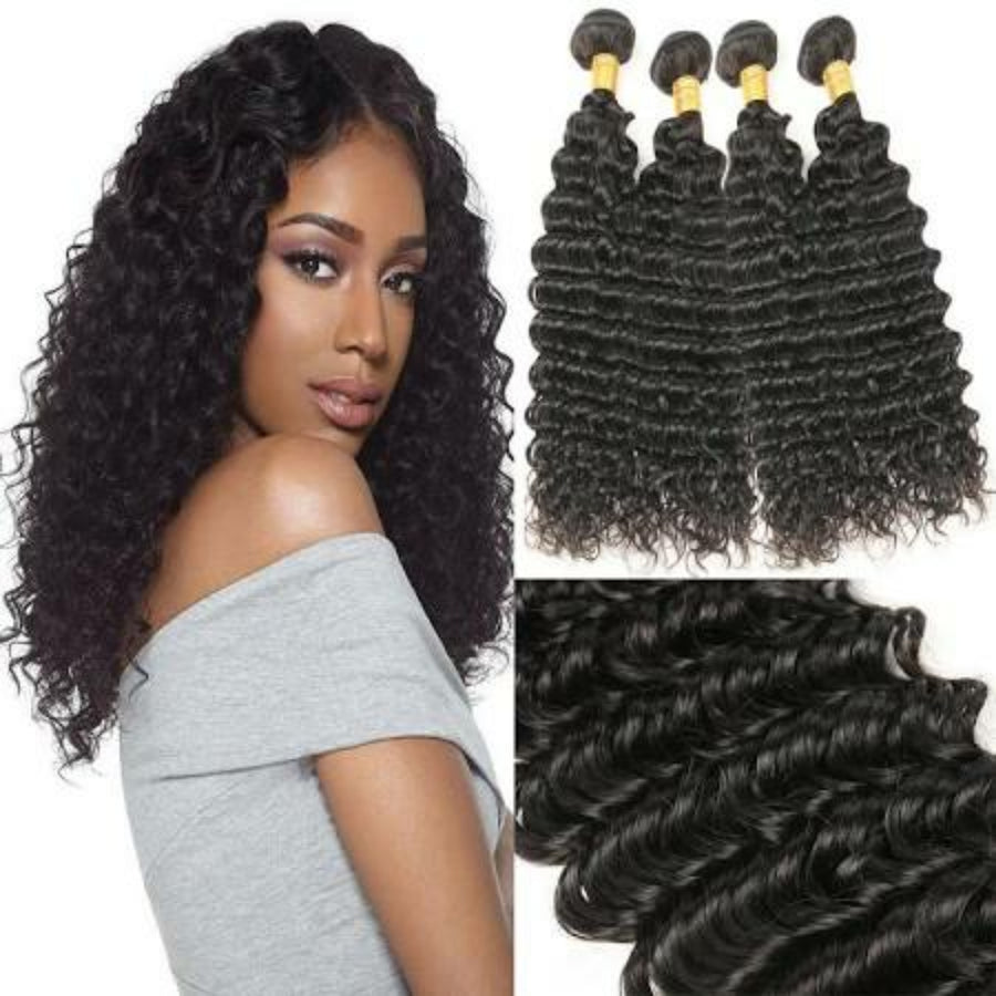 Four (4) Bundles of Silky Deep wave grade 9a - mslhair