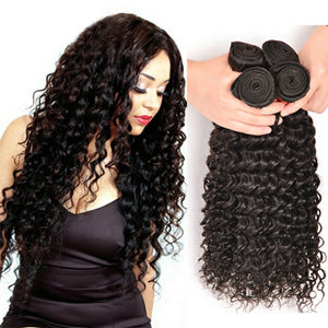 Four (4) Bundles of Silky Deep wave grade 10a - mslhair